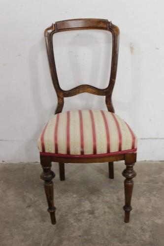 5955 Eleganckie Krzesło Toczone Nogi