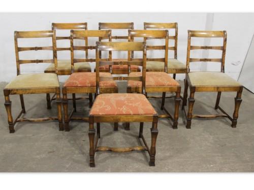 6212 Eleganckie Krzesła Na Toczonych Nogach Komplet 8 Szt