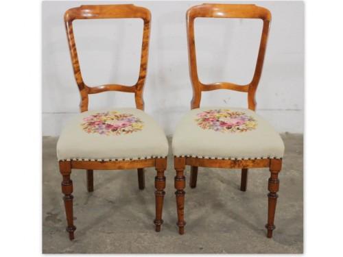 6214f Eleganckie Krzesło Na Toczonych Nogach Gobelin